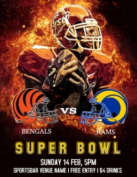 * Super Bowl party MASTER Ulotka (US Letter) template