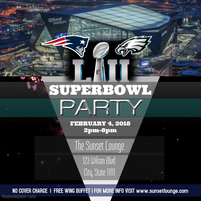 Superbowl party instagram Template | PosterMyWall