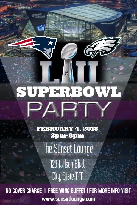 Superbowl Party Template Postermywall