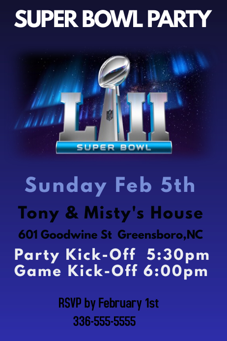 Superbowl Party Template | PosterMyWall