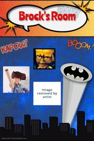 Superhero Batman Poster Room Sign Invitation Cartoon
