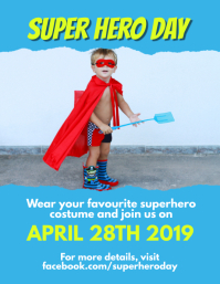 Superhero day Flyer (format US Letter) template