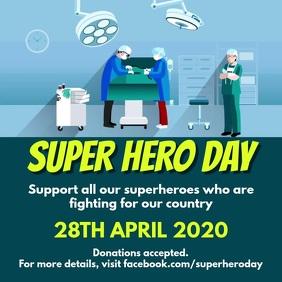 Superhero day Квадрат (1 : 1) template