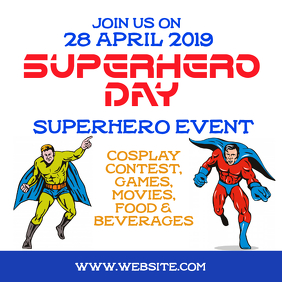 Superhero day event Instagram 帖子 template