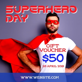 Superhero day Gift Voucher