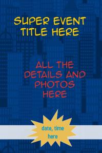customizable design templates for superhero postermywall