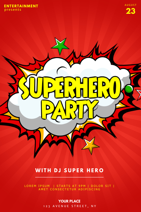 superhero flyer template