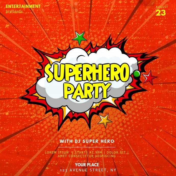 Superherp party video instagram template