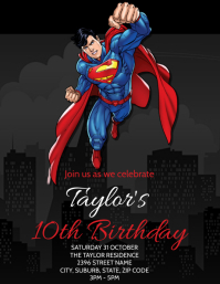 Superman Party Invitation Template