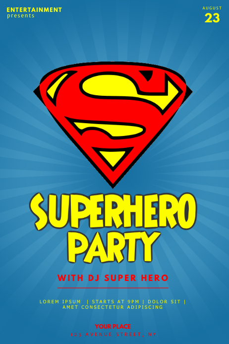 Superman Superhero Flyer Template