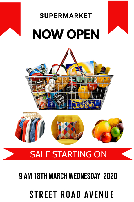 supermarket Poster template