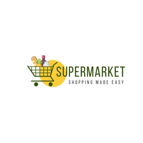 Supermarket grocery logo template