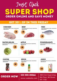 Supermarket Promotion Flyer A4 template