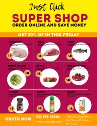 Supermarket Promotion Flyer template