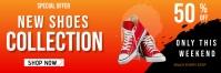 Supper Sale Banner Ad For Shoes Offre Cartel de 2 × 6 pulg. template