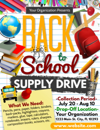 supply drive Flyer (US Letter) template