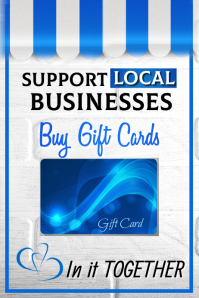 Support Local Business Poster Affiche template