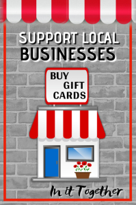Support Local Businesses Poster Affiche template