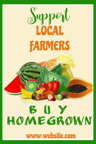 Support Local Farmers Poster