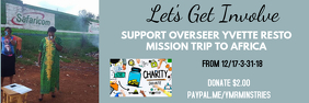 SUPPORT MISSION TRIP Banner 2' × 6' template