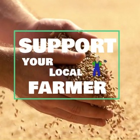 Support our farmer Message Instagram template