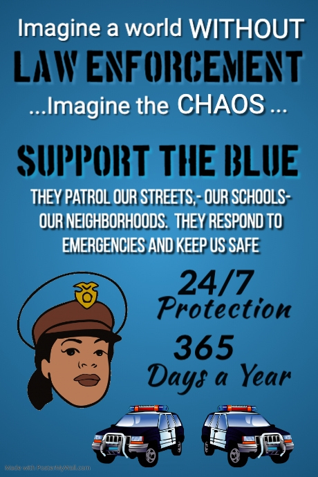 Support our Police Poster Template