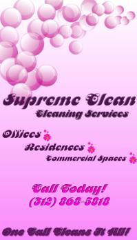Supreme Cleaning Service Business Card Biglietto da visita template
