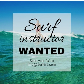 Surf Instructor Job
