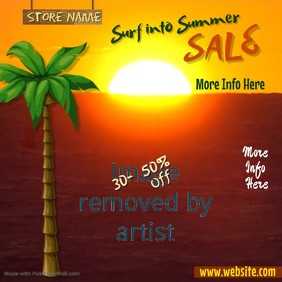Surf Into Summer Sale Poster