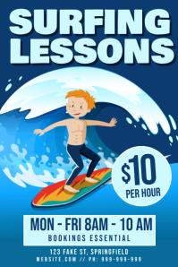 Surfing Lessons Poster
