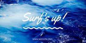 Surfs Up โพสต์บน Twitter template