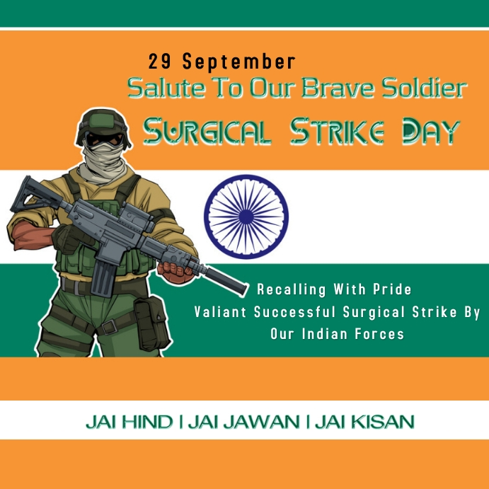 Surgical Strike Day Pos Instagram template