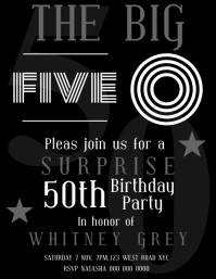 SURPRISE BIRTHDAY PARTY TEMPLATE Flyer (US-Letter)