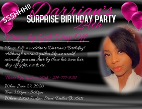 Surprise Drive-by Birthday Party Рекламная листовка (US Letter) template