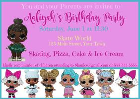 Surprise Invitation Skate Party