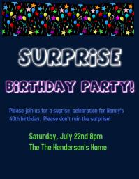 surprise birthday templates