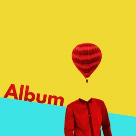 Surreal Pop Modern Album art design ปกอัลบั้ม template