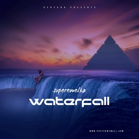 Surreal Waterfall Mixtape Cover