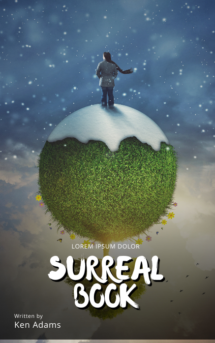 Surreal Winter Book cover movie template