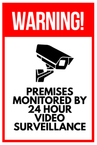 Surveillance Warning Sign Poster