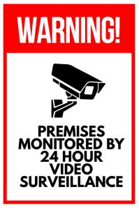 Surveillance Warning Sign Poster
