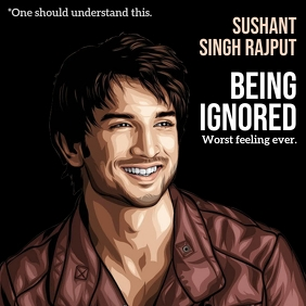 Sushant Singh Rajput Template Square (1:1)