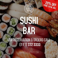 Sushi Bar Instagram Post template