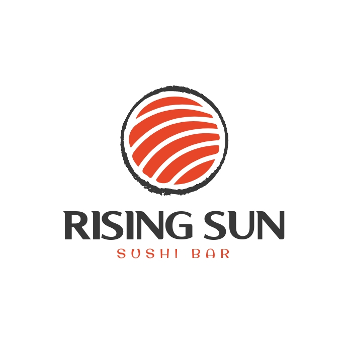 Sushi Bar Restaurant Logo template