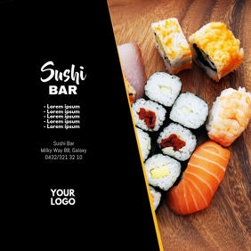 Sushi Bar Special Promo China Restaurant Food Instagram Post template