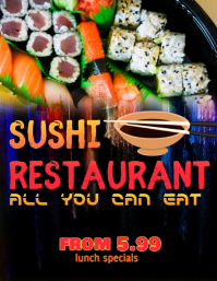 Sushi Buffet Special Flyer Template