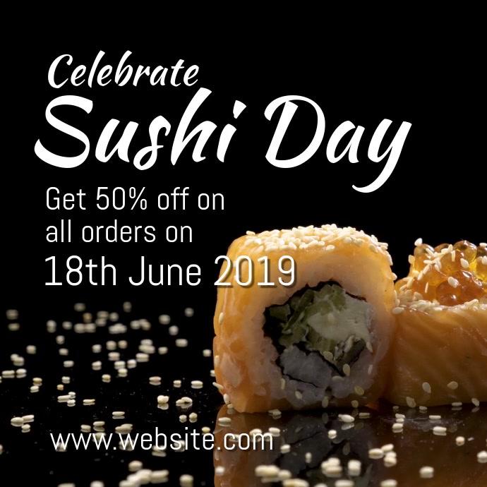 Sushi day Kvadrat (1:1) template