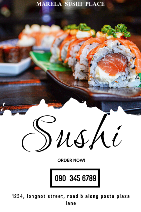 SUSHI DELIVERY Plakat template