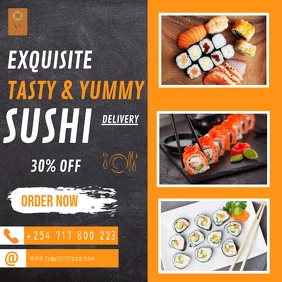 SUSHI DELIVERY Сообщение Instagram template