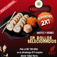 sushi Publicação no Instagram template
